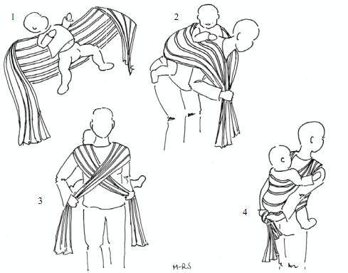 5e76417a498 echarpe de portage dans le dos