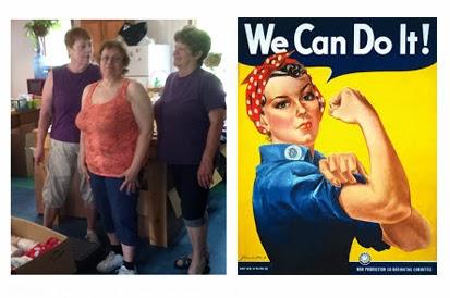 Le service des expéditions à Morristown est composé uniquement de femmes.  Nous vous présentons Debbie, Fran et Candy, les femmes qui s'assurent que nos produits se rendent à bon port!